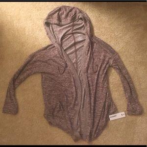 NWT Sonoma hooded heathered purple cardigan